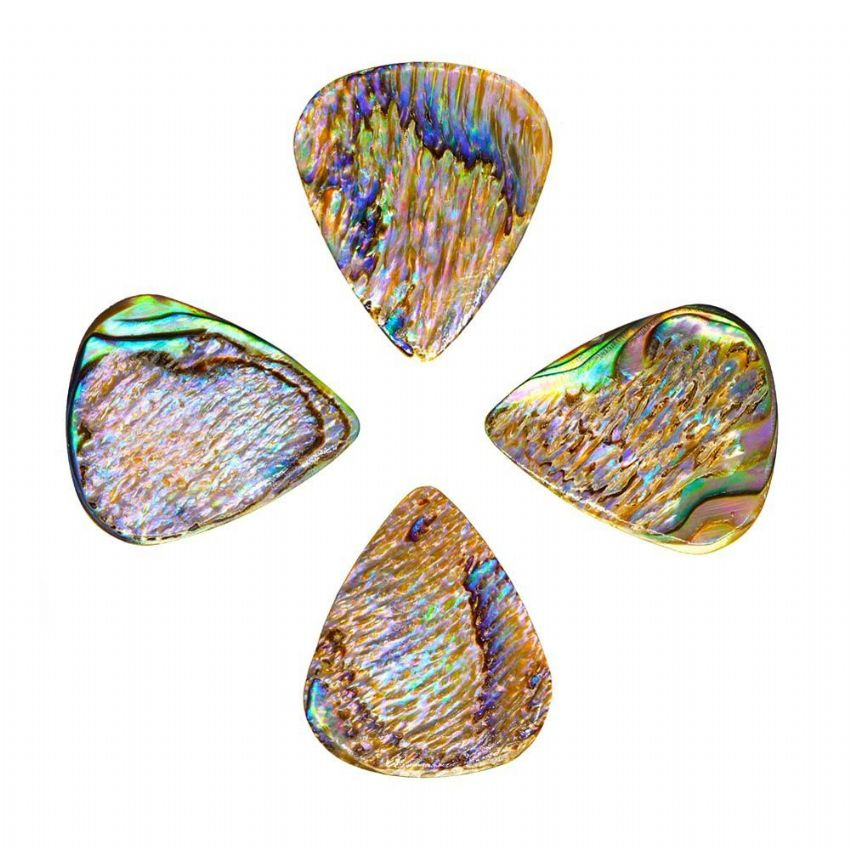 Abalone Tones - Paua - 4 Guitar Picks | Timber Tones